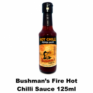 Bushmans Fire Hot Chilli Sauce 125 ml
