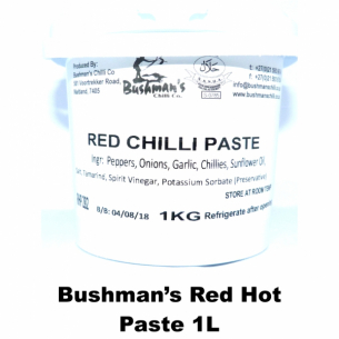 Bushmans Red Chilli Paste 1L