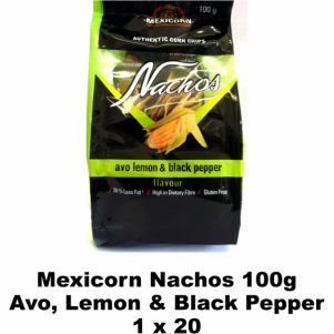 Mexicorn Nachos 100g Avo, Lemon & Black Pepper
