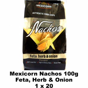 Mexicorn Nachos 100g Feta, Herb & Onion
