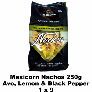 Mexicorn Nachos 250g Avo, Lemon & Black Pepper