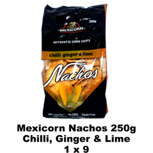 Mexicorn Nachos 250g Chilli,Ginger & Lime