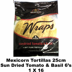 Mexicorn Tortillas 25cm Sundired Tomato