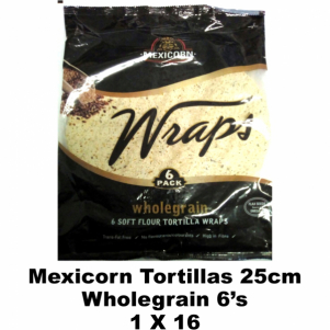 Mexicorn Tortillas 25cm Wholegrain